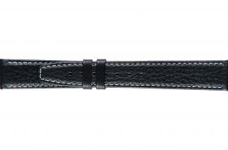 Uhrenarmband Kalbsleder K0204L black/white stitch