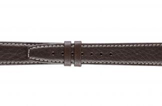 Uhrenarmband Kalbsleder K0204L brown/white stitch