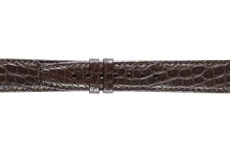 Uhrenarmband Alligatorleder K0702L dark brown 60053