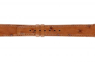 Uhrenarmband Straussenleder K0900L dark cognac