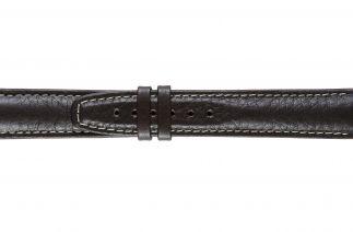 Uhrenarmband Kalbsleder F002-1B brown/white stitch