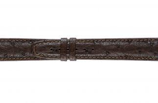 Uhrenarmband Straussenleder F052B brown