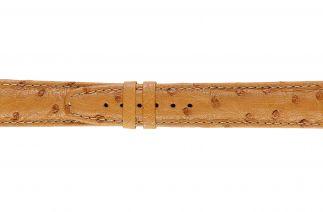 Uhrenarmband Straussenleder F052B cognac